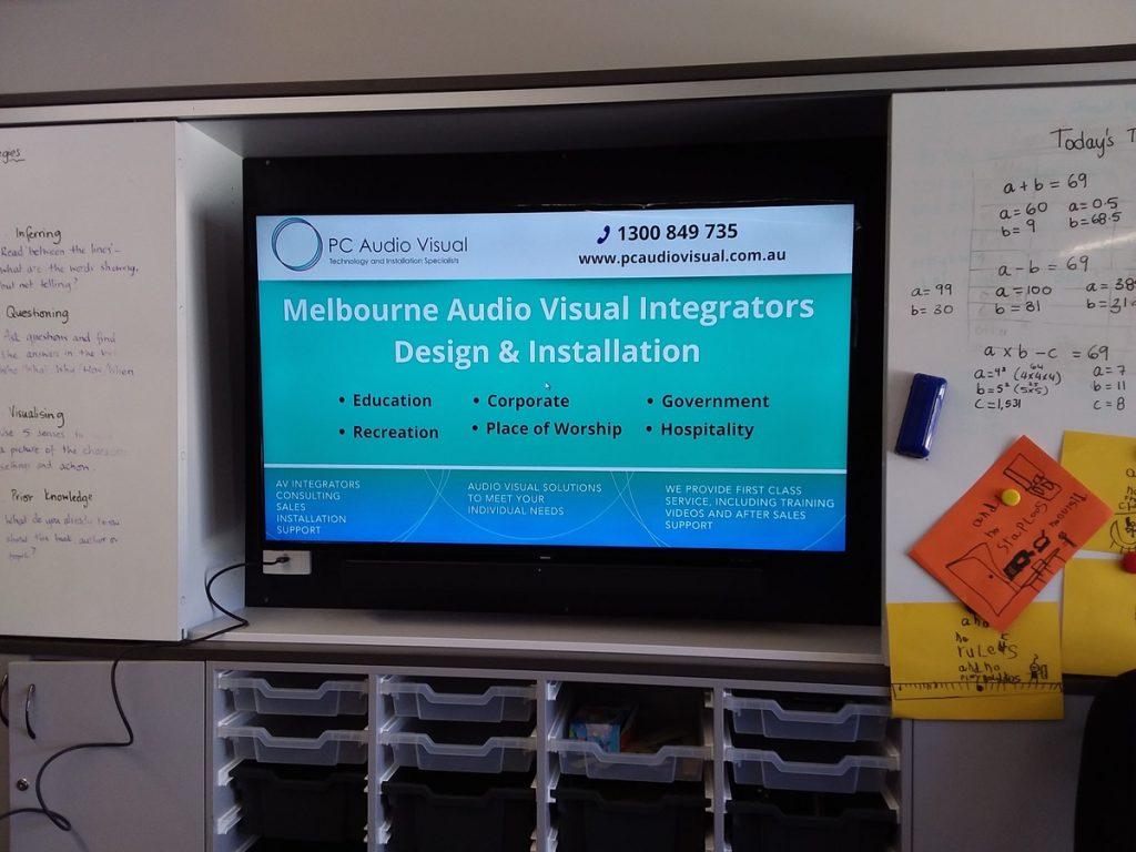 Screen Installation   Education Preston PC Audio Visual Melbourne
